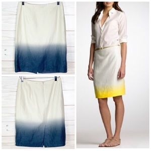J. Crew Ombre Pencil Skirt Career Linen Size 2 New